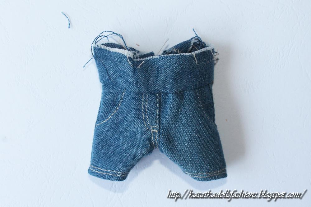 Как кукле сшить джинсы 78