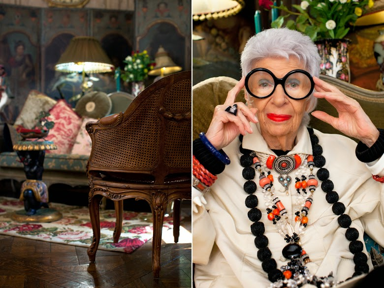 eclectic colorful apartment in New York City, Iris Apfel