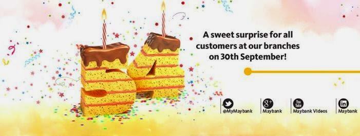 Maybank Birthday Surprise, Maybank, Maybank 54th Anniversary Surprise