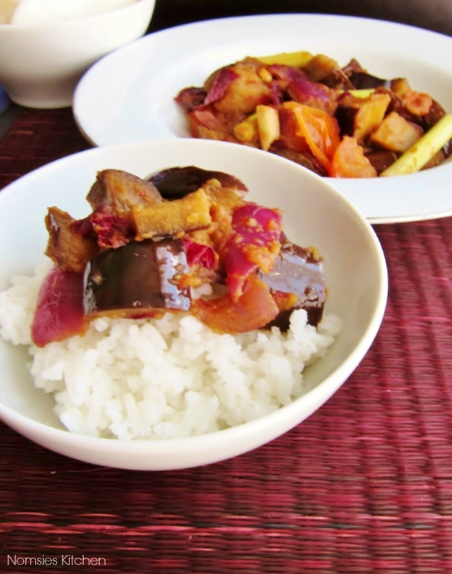 Aubergine with Sambal - Recipe from Nomsies Kitchen