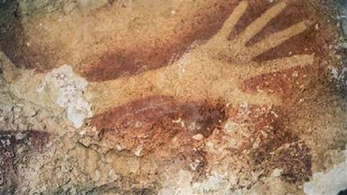 Asian cave drawings as old as European ones
