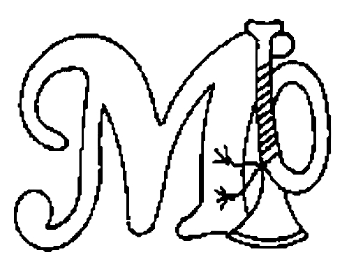 Desenhos Para Colori letras do alfabeto letra M desenhar