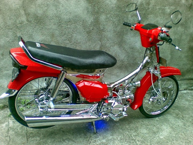 Foto Modifikasi Motor Astrea Prima Keren Warna Merah 2015