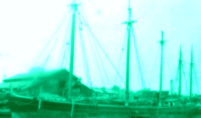 The schooner Erie Board of Trade went down in Saginaw Bay, Michigan in 1883.  Many believe the ghost ship can be seen in the same area to this day.