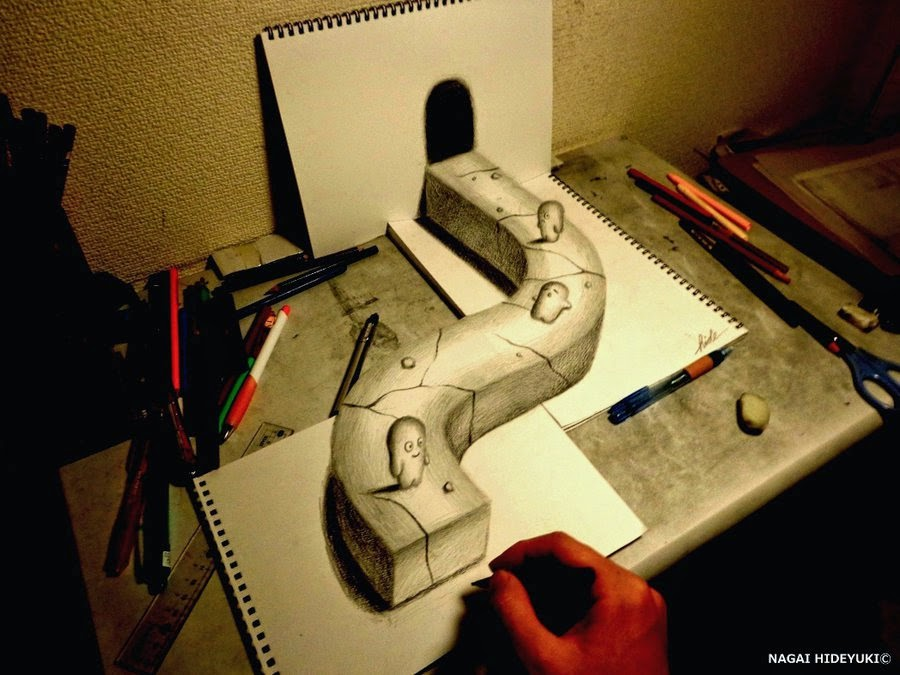 10-Nagai-Hideyuki-永井-秀幸-Hide-3D-Pencil-Art-www-designstack-co