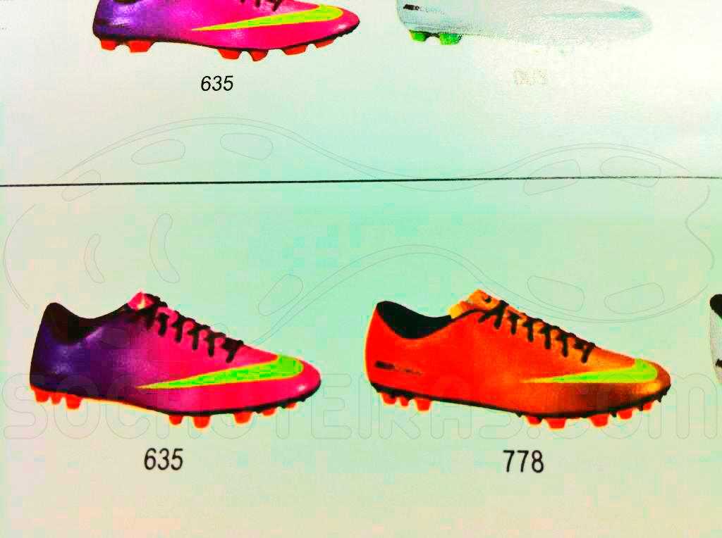 Catálogo Nike para o inverno de 2013. Linhas Mercurial, Tiempo, T90