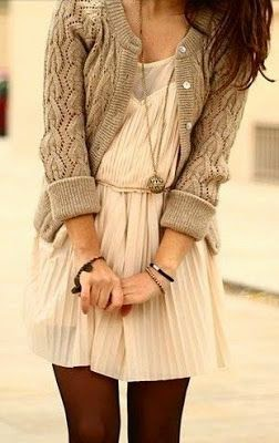 see more Sweater and dress for fall