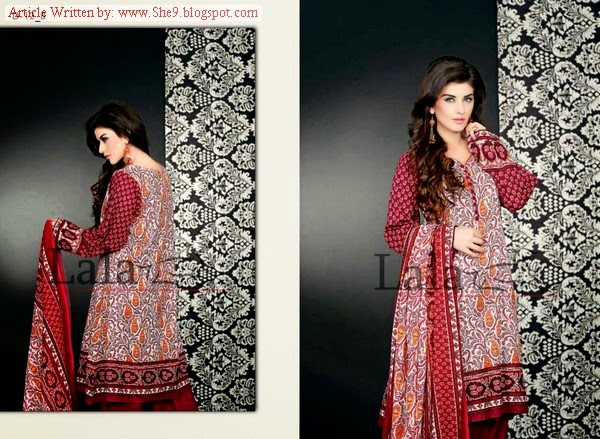 Sana Samia Khaddi Winter-Fall Collection 2014-15 by Lala