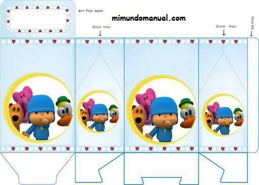 Cajitas para fiestas infantiles -Pocoyo | Mimundomanual