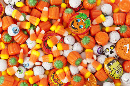 Candy Corn and Eyeball chocolate