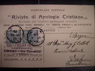 Felicitacions pel Centenari desde Itàlia