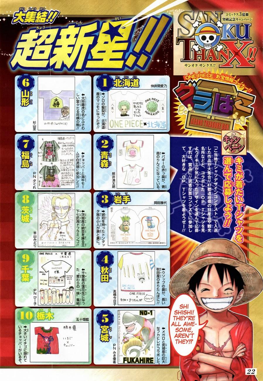 One Piece Chapter 741: Thần gió Usoland 022