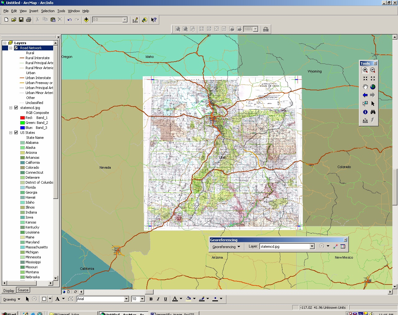how to create attribute table for raster data in arcgis