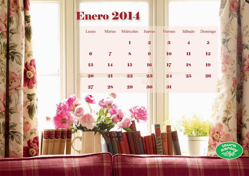 Calendario Enero 2014 Laura Ashley