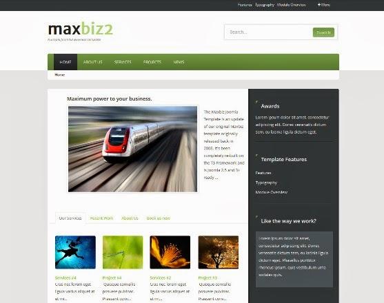 MaxBiz2 Responsive Joomla Template
