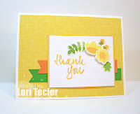 Floral Thank You card-designed by Lori Tecler/Inking Aloud-stamps and dies from Avery Elle
