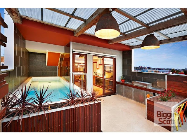 Photo of rooftop terrace with the pool and barbecue
