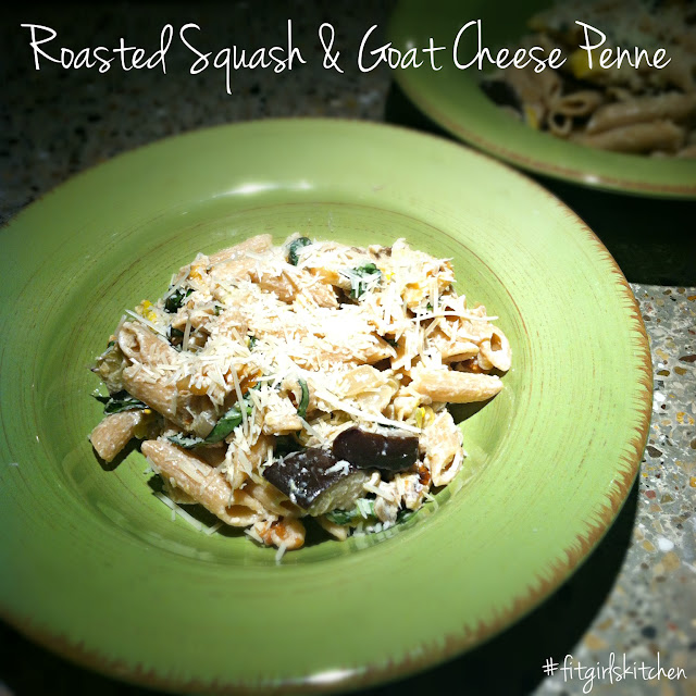 Roasted Squash & Goat Cheese Penne