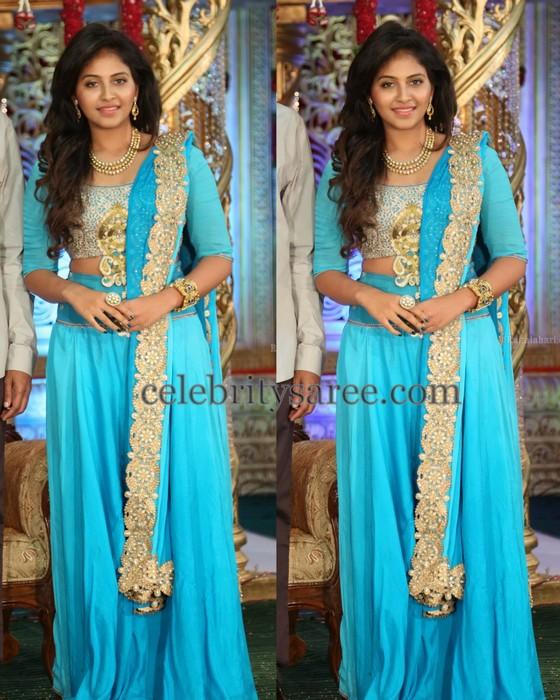Anjali in Sky Blue Lehenga