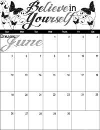 June 2016 Inspirational Calendar