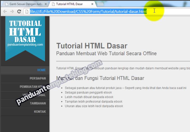 Ebook HTML: Membuat Tutorial Website Offline