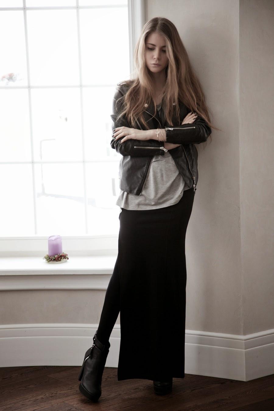Девушка в длинной обтягивающей юбке