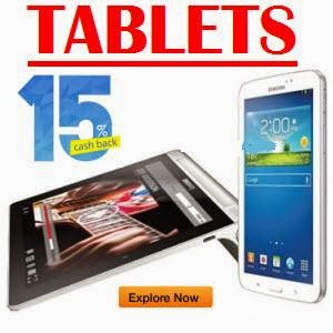Paytm: Get  Extra 15% Cashback on Tablets