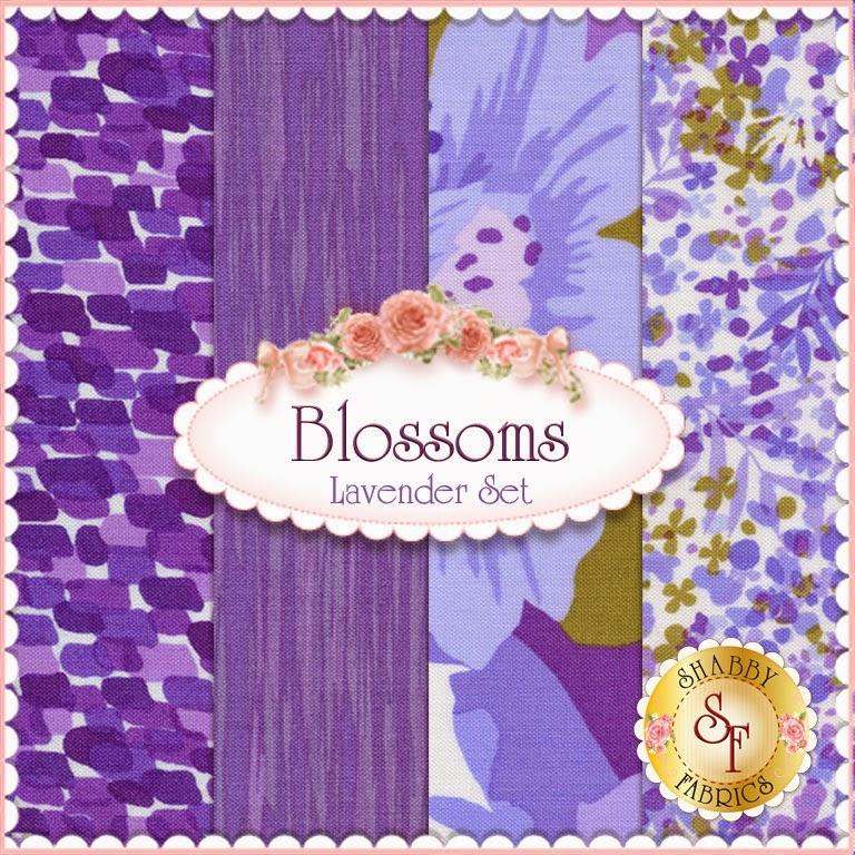 Blossoms- Lavender FQ set from Andover Fabrics | Shabby Fabrics
