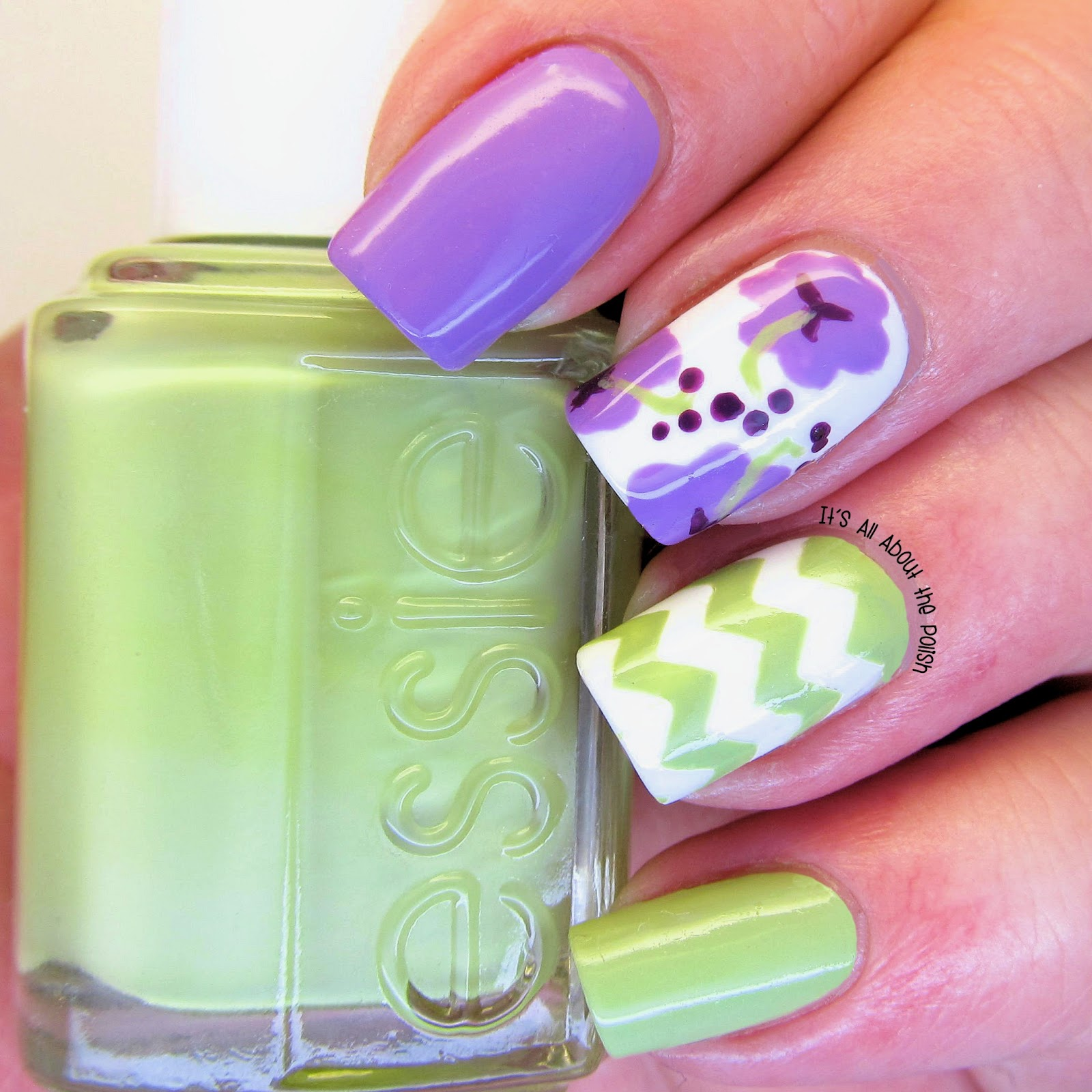 Its All About The Polish Hibiscus Nail Design With Essie Navigate