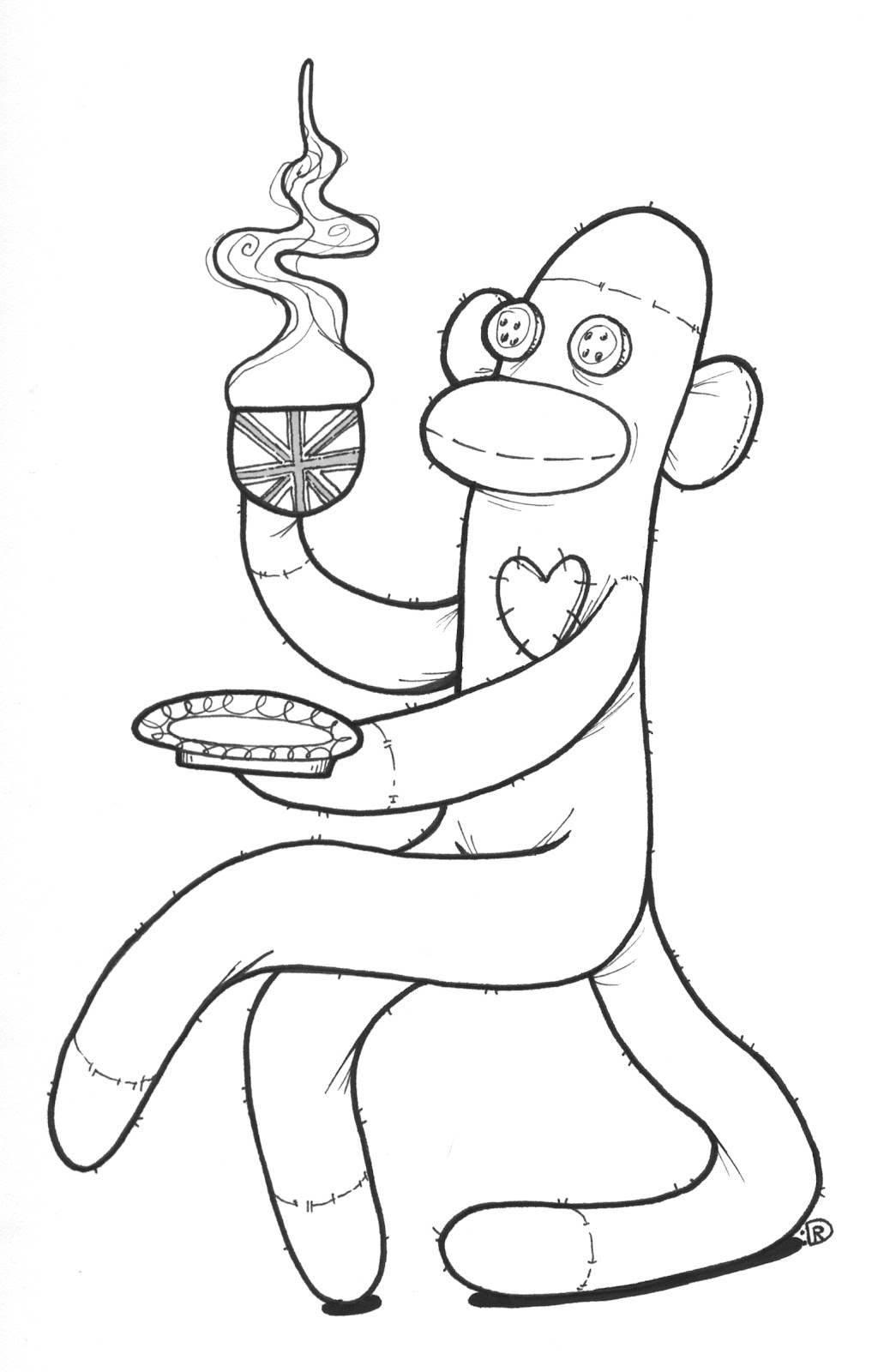 Free Coloring Pages Of How To Draw How Monkey