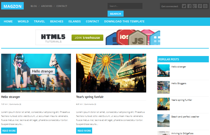 Free Blogger Responsive Templates
