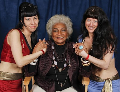 Cindy & Maggie with Nichelle - Star Trek Convention