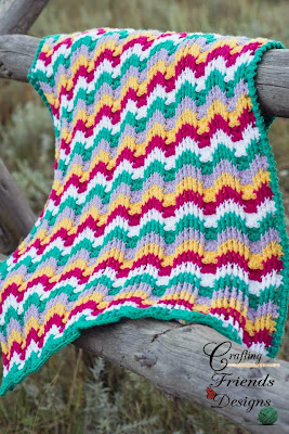 Reversible Textured Chevron Afghan