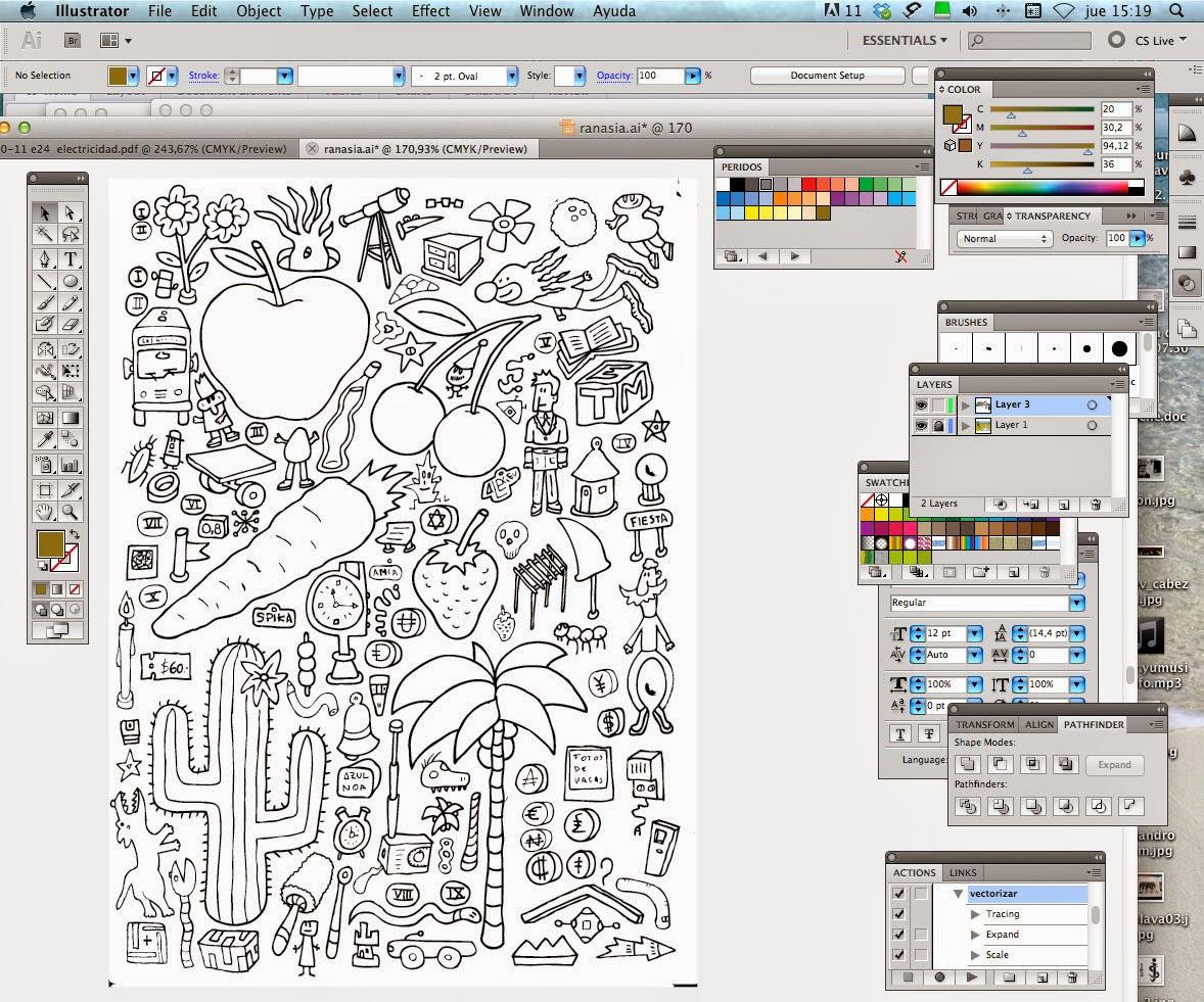 Ilustrador Alexiev Gandman: Paso a paso para colorear una hoja de mi ...