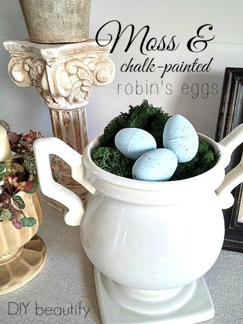 Chalk painted Robin's Eggs DIY beautify