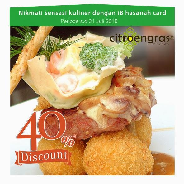 Nikmati sensasi kuliner di Citroengras bersama iB hasanah card