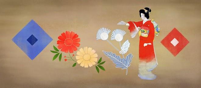 Shoen Uemura's 140th Birthday Google Doodle