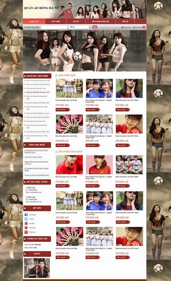thiết kế web bán hàng quần áo đẹp