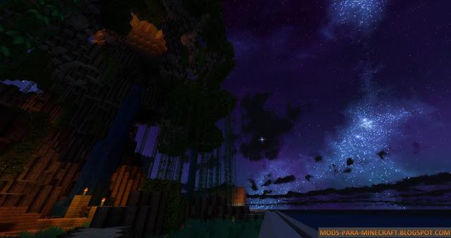 Paisaje hermoso gracias al resource pack MoritzCraft 1.8