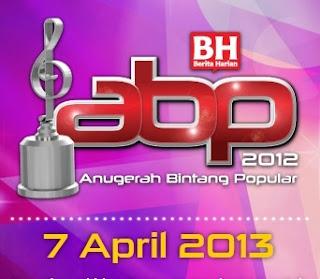 Senarai Pemenang Anugerah Bintang Popular ABPBH 2012