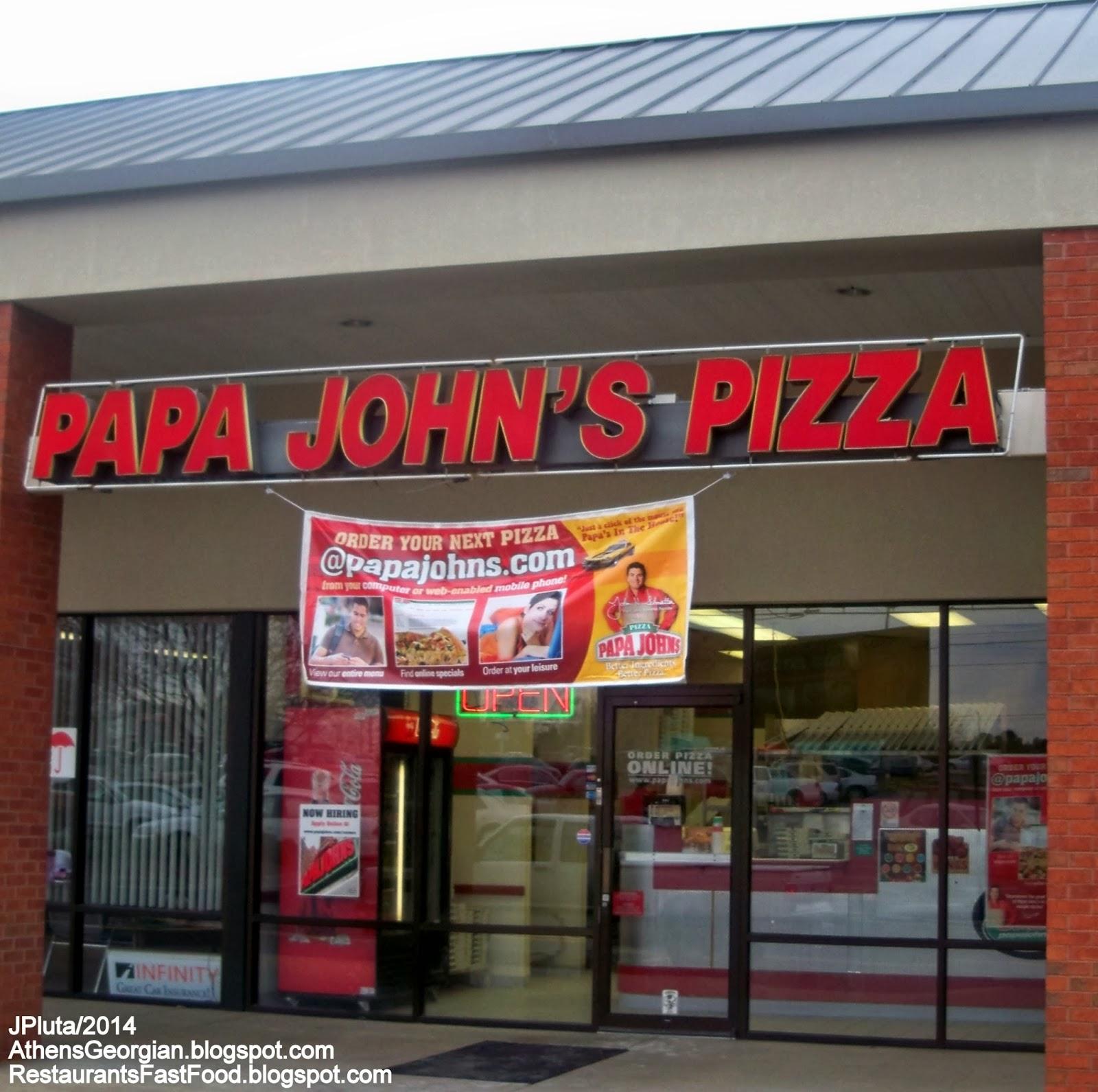 Papa John S Pizza Athens Georgia Atlanta Highway Hwy Delivery Restaurant Bogart Ga