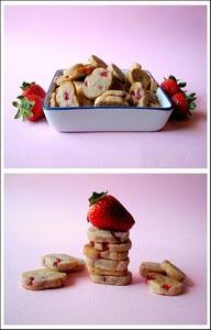Biscotti Cioccolato Bianco e Fragole