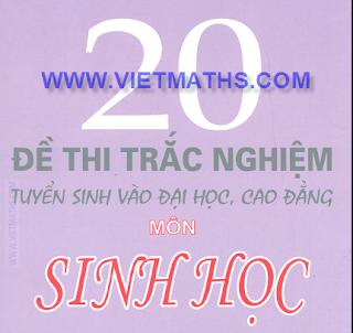 de thi thu dai hoc mon sinh nam 2013, de thi thu dh 2013 mon sinh hoc