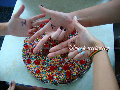 Bolo de chocolate das amigas