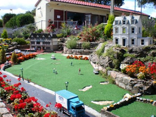 A miniature golf course at Merrivale Model Village in Great Yarmouth