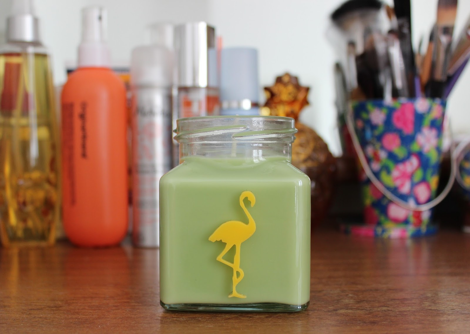 Flamingo candles lemon lime mojito