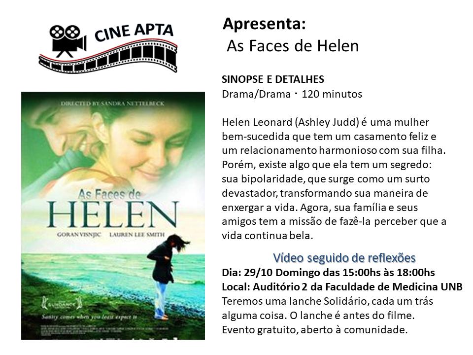 """CINE APTA apresenta """" As Faces de Helen"""""""