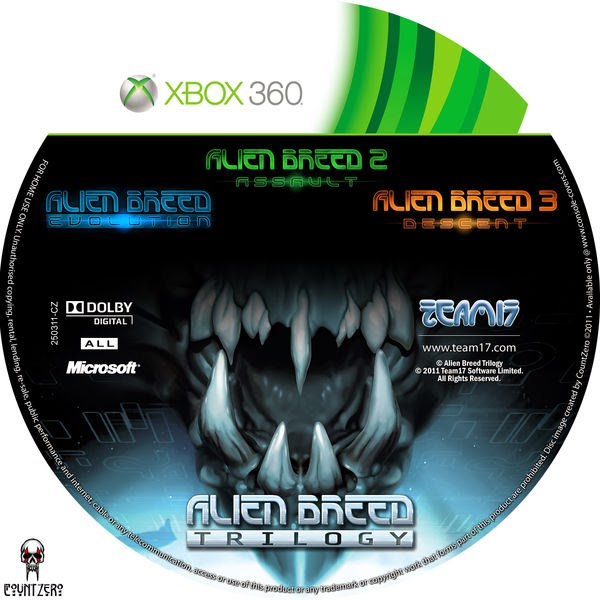 Label Alien Breed Trilogy Xbox 360