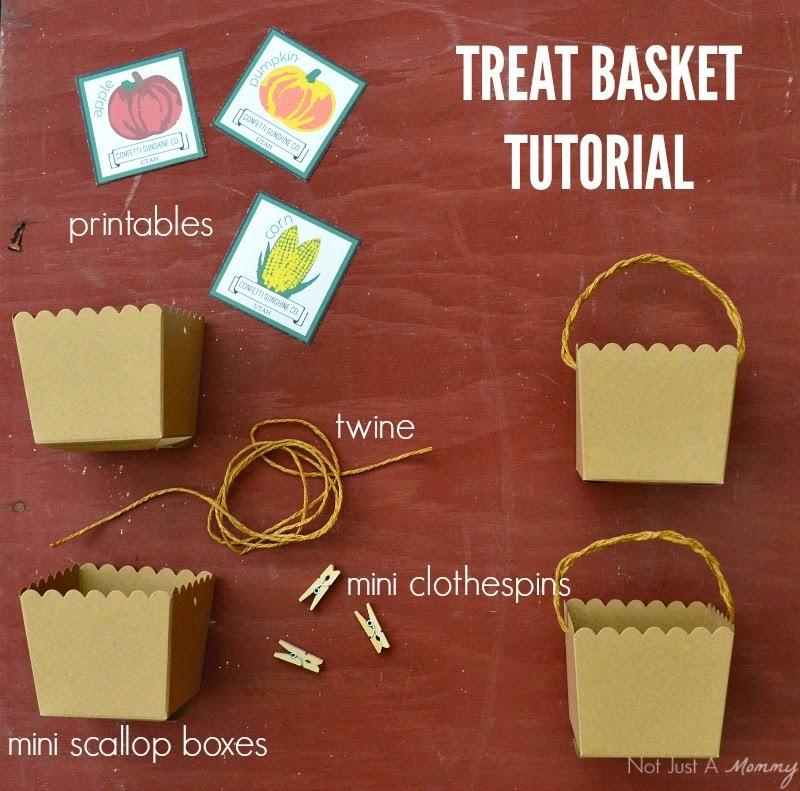 The Party Hop: Autumn Market treat box labels tutorial