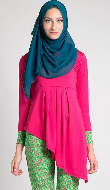 baju gaun hamil muslim lebaran modis baju hamil muslimah untuk lebaran ...